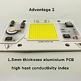 №1 COB LEd Smart IC 50w 6000K Светодиод 50w 220v светодиодная матрица 50w с драйвером на борту, фото 2