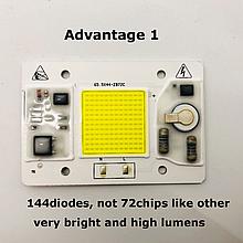 №1 COB LEd Smart IC 50w 6000K Светодиод 50w 220v светодиодная матрица 50w с драйвером на борту