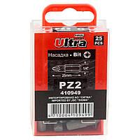 """Набор бит PZ2×25мм 1/4"""" 25шт S2 ULTRA (4010502)"""