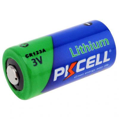 Литиевая батарейка PKCELL CR123A, 3 вольта