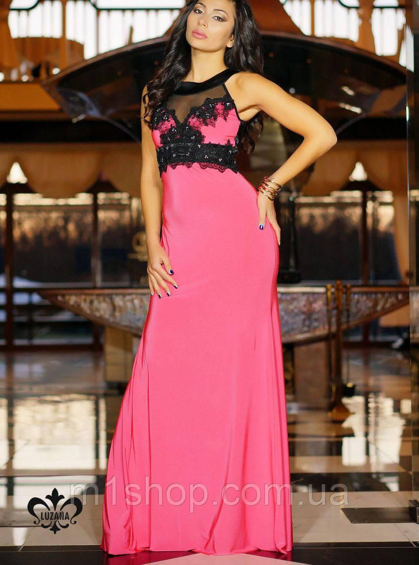 Платье с декором | Кассандра без шлейфа lzn