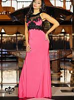Платье с декором   Кассандра без шлейфа lzn