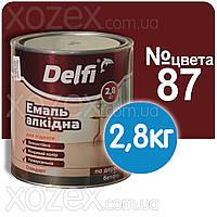 Красно-коричневая №87 ПФ 266 Краска для пола Делфи Delfi 2,8кг
