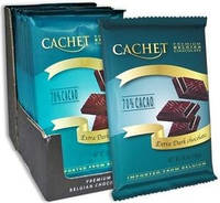 Премиум шоколад Cachet 70% Extra Dark Chocolate  экстра темный, 300гр. Бельгия