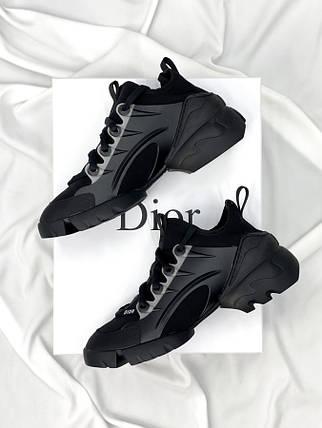 Женские кроссовки Dior D-connect Black, фото 2