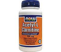 NOW Ацетил-L-Карнитин Acetyl-L-Carnitine 500 mg (50 veg caps)