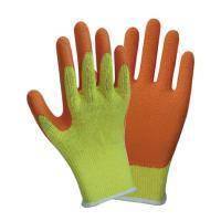 Перчатки трикотажные с частичным латексным покрытием кринкл р10 эконом (оранж манжет) SIGMA (9445421)