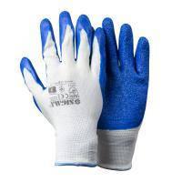 Перчатки трикотажные с частичным латексным покрытием кринкл р9 (синие манжет) SIGMA (9445491)