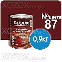 Красно-коричневая №87 ПФ 266 Краска для пола Декарт 0,9кг