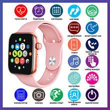 Смарт годинник Розумні годинник Smart Watch T500 Plus з сенсорним екраном і пульсометром рожеві + подарунок