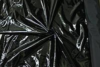 Ткань лак черная