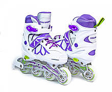Ролики Scale SportsLF 601A бело-фиолетовые, размер 29-33