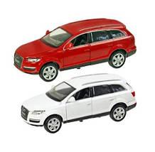 Колекційна модель Ауді кью 7 (Audi Q7) металева машинка, 1:24, 2 кольори, АВТОПРОМ