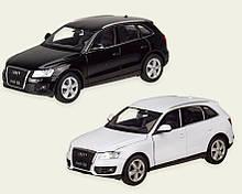 Масштабна модель Ауді кью5 (Audi Q5) металева машинка, 1:24, 2 кольори, Welly