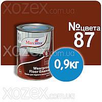 Красно-коричневая №87 Краска для пола Maxima Максима 0,9кг