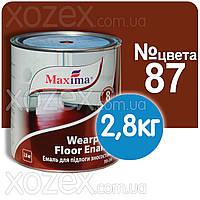 Красно-коричневая №87 Краска для пола Maxima Максима 2,8кг