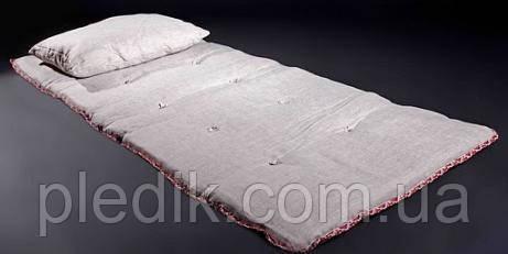 Льняной топер 3 см., ткань хлопок, Линтекс.
