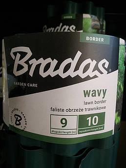 Бордюрна стрічка садова хвиляста зелена Bradas 10см х 9м