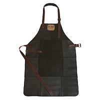 Фартук кожаный для гриля черный Holla Grill #K/E
