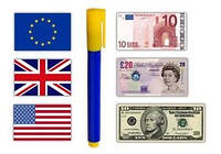Banknote tester pen маркер для проверки денег, детектор валют