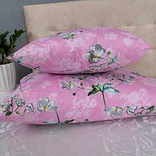 Набір подушок рожеві з квітами