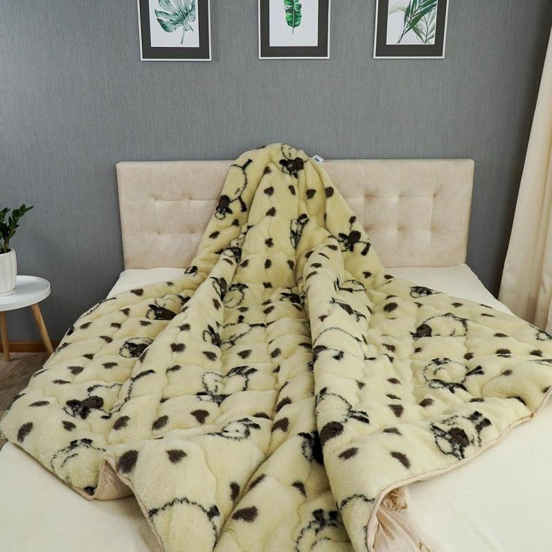 Одеяло Arda «Wool» искусственный мех, бежевое 150х210