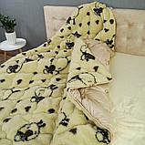 Одеяло Arda «Wool» искусственный мех, бежевое 150х210, фото 2