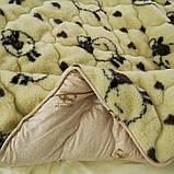 Одеяло Arda «Wool» искусственный мех, бежевое 150х210, фото 3