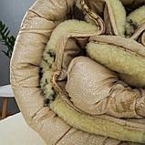 Одеяло Arda «Wool» искусственный мех, бежевое 150х210, фото 4