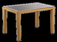 Стіл Tilia Antares 80x120 см верх стільниці зі скла, пластикові ніжки кавовий