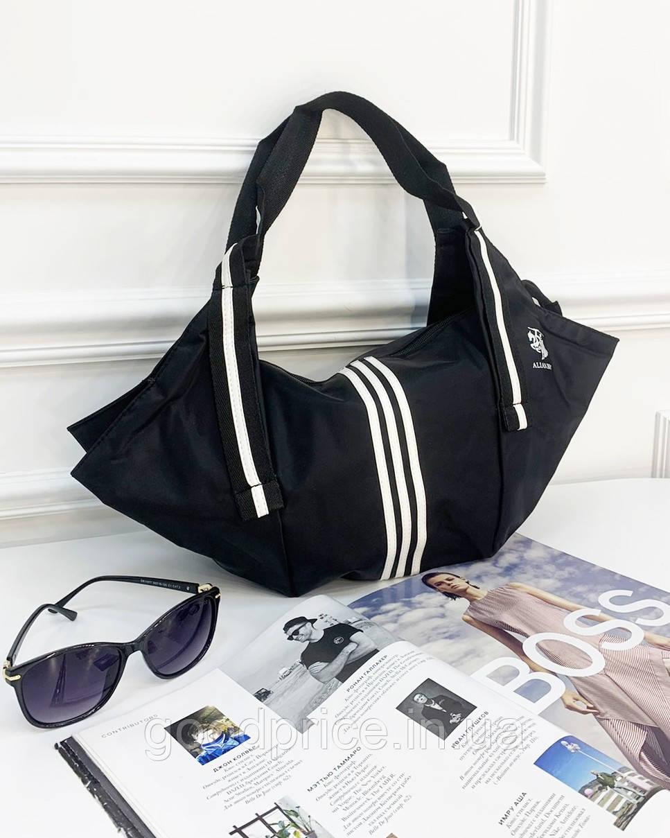Женская черная СПОРТИВНАЯ сумка из полиэстера