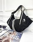 Женская черная СПОРТИВНАЯ сумка из полиэстера, фото 4