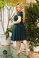 Элегантное женское платье А-силуэта с абстрактным принтом с 50 по 56 размер, фото 2