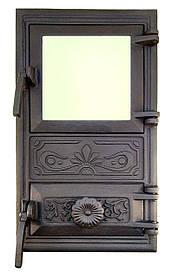 Дверца для печи со стеклом и регулировкой подачи воздуха 102921