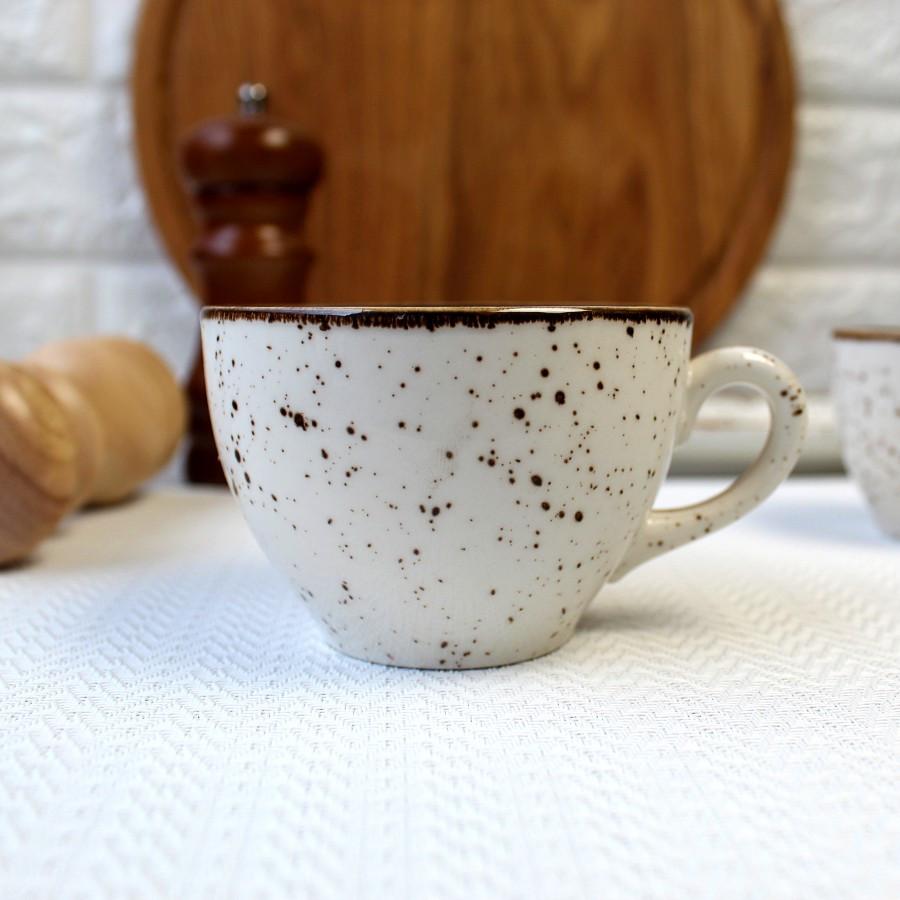 Чашка порцелянова мармурова для капучино Kutahya Porselen Atlantis 220 мл (CR3722)