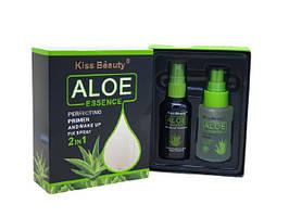 Набор праймер и фиксатор Aloe Perfecting Primer And Make Up Fix Spray 2 in 1 Vitamin E, Aloe vera Extract