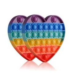 Сенсорная игрушка антистресс ПУШ АП пузырь для взрослых и детей Pop It (сердце)