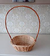Плетеная корзина из лозы коричневая 0013