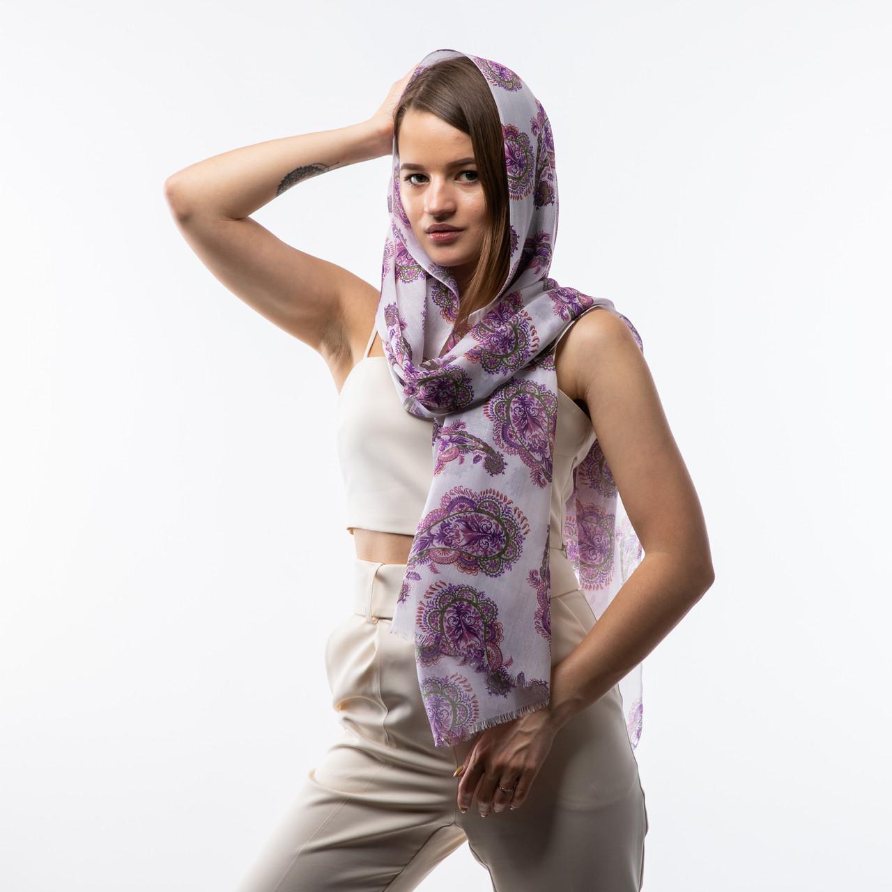 Тоненький бавовняний шарф  190х70см