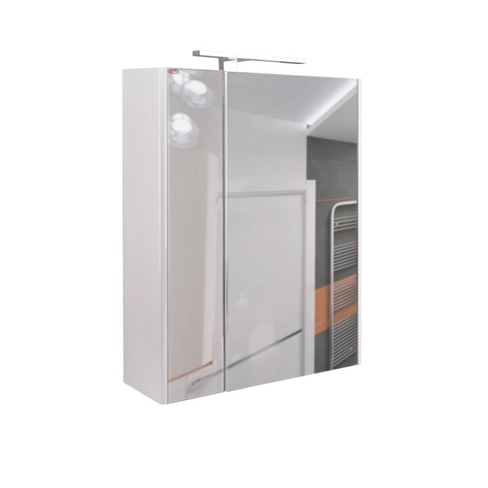 Зеркальный шкаф подвесной Qtap Albatross 600х700х145 White с LED-подсветкой QT0177ZP600LW