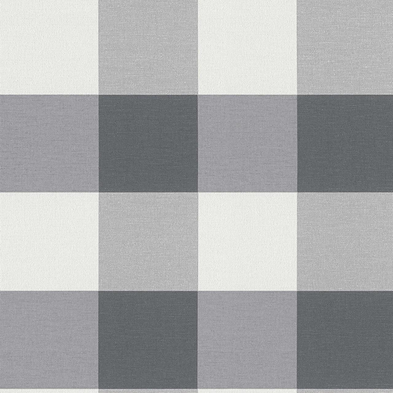 Немецкие обои ретро 206367 в крупную светло и темно серую клетку на белом, оттенка графит и мокрый асфальт