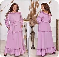 Женское летнее платье макси  до 70 размера (большие размеры)