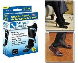 Антиварикозные носки MIRACLE SOCKS, Компрессионные гольфы Мирекл Сокс