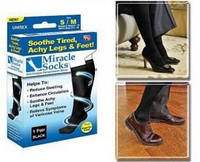 Антиварикозные носки MIRACLE SOCKS, Компрессионные гольфы Мирекл Сокс, фото 1