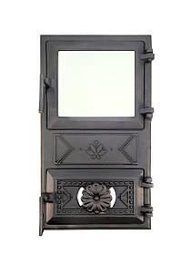 Дверцята для печі зі склом і регулюванням подачі повітря 102920
