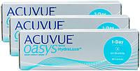 Контактные линзы Johnson&Johnson Acuvue Oasys 1-Day with Hydraluxe TRIO (BC=9.0, DIA=14.3) 90 линз