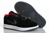 Мужские кроссовки Nike Air Jordan Retro 1 Low Black Red
