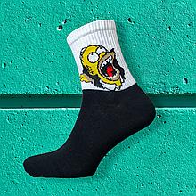 Носки мужские Гомер Симпсон черные размер 39-43