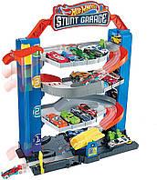 Трек Hot Wheels Хот Вілс переносний чотириповерховий гараж для трюків Mattel (GNL70)
