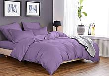 Комплект постельного белья Микрофибра Фиолетовый однотонный евро
